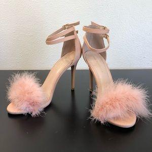 Shoe Republic Fuzzy Pink High Heels